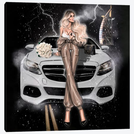Fashion Girl With Mercedes Canvas Print #EFE45} by Erin Felis Canvas Print