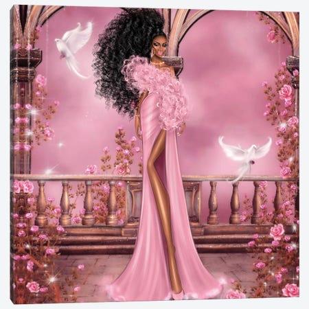Women In Pink Canvas Print #EFE4} by Erin Felis Art Print