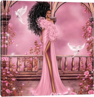 Women In Pink Canvas Art Print