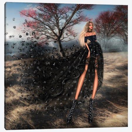 Black Dress Canvas Print #EFE6} by Erin Felis Canvas Art Print