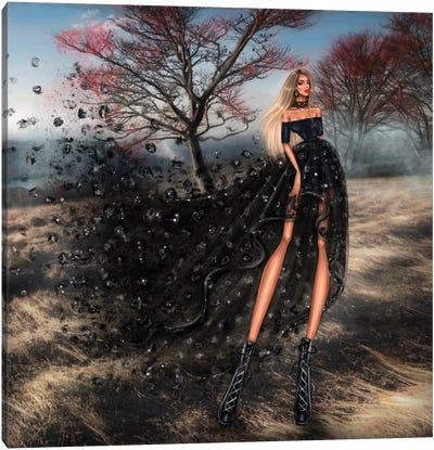 Black Dress Canvas Art Print
