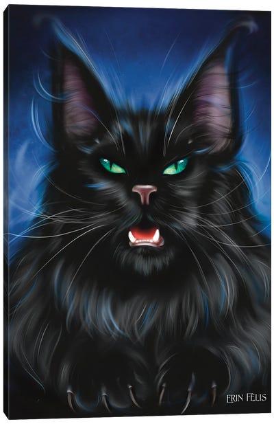 Danger Cat Canvas Art Print