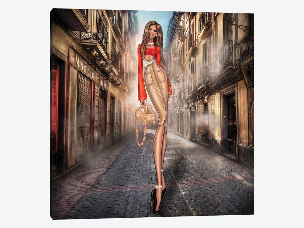 Girl On Street by Erin Felis 1-piece Canvas Art