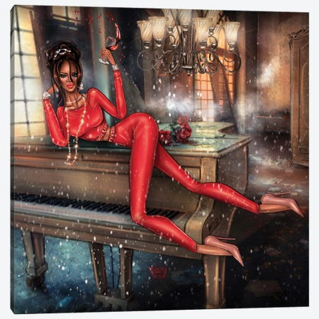 Rihanna Canvas Print #EFE9} by Erin Felis Canvas Wall Art