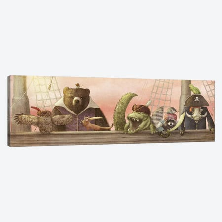 Pirates! Canvas Print #EFN103} by Eric Fan Canvas Wall Art