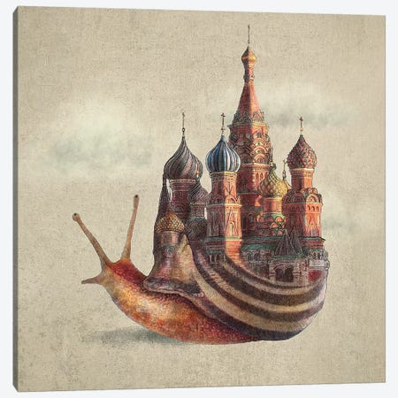 The Snail's Daydream Canvas Print #EFN108} by Eric Fan Canvas Artwork