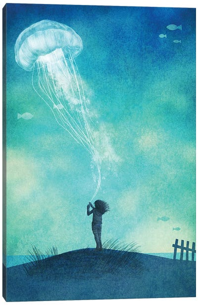 The Thing About Jellyfish Canvas Art Print