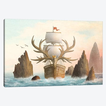The Antlered Ship Cover Canvas Print #EFN114} by Eric Fan Canvas Art
