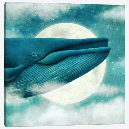 The Great Whale Canvas Print #EFN115} by Eric Fan Canvas Wall Art