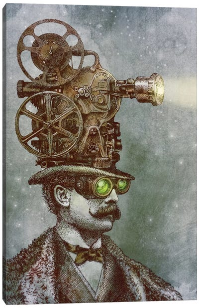 The Projectionist Canvas Art Print