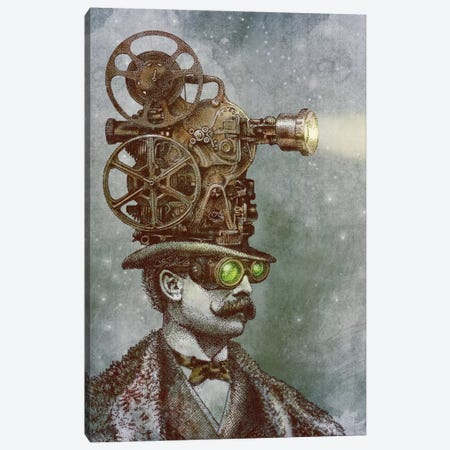 The Projectionist Canvas Print #EFN16} by Eric Fan Art Print
