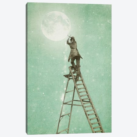 Waning Moon Canvas Print #EFN19} by Eric Fan Canvas Art