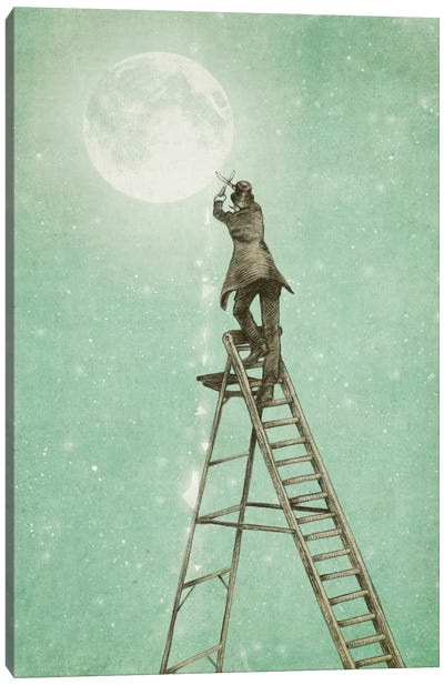 Waning Moon Canvas Art Print