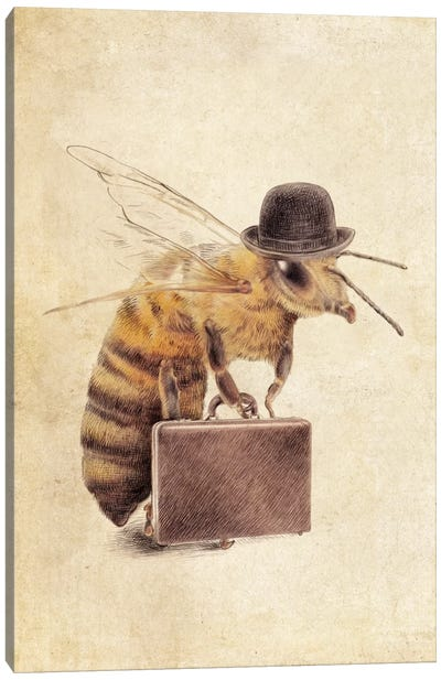 Worker Bee Canvas Art Print