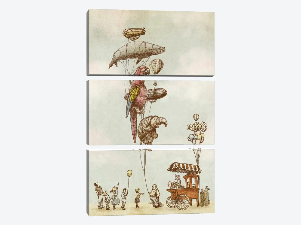 A Day at the Fair by Eric Fan 3-piece Canvas Art Print