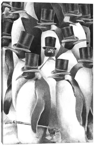 A Gathering of Gentlemen Canvas Print #EFN23