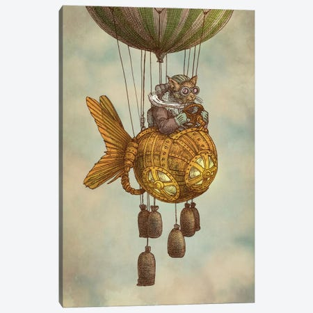 Around the World in the Goldfish Flyer Canvas Print #EFN26} by Eric Fan Canvas Art