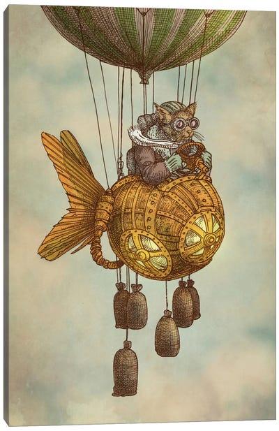 Around the World in the Goldfish Flyer Canvas Print #EFN26