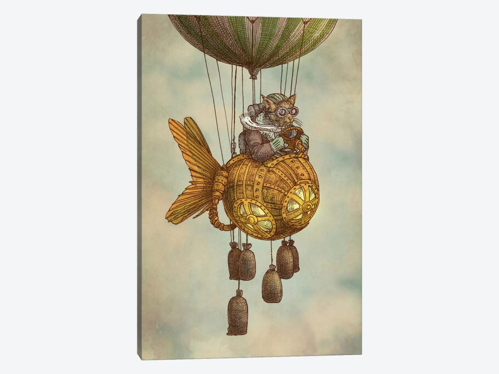 Around the World in the Goldfish Flyer by Eric Fan 1-piece Canvas Art Print