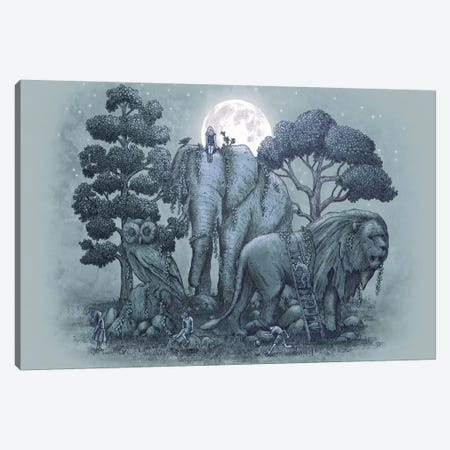 Midnight in the Stone Garden Canvas Print #EFN2} by Eric Fan Art Print