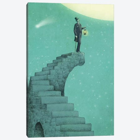 Moon Steps Canvas Print #EFN3} by Eric Fan Art Print