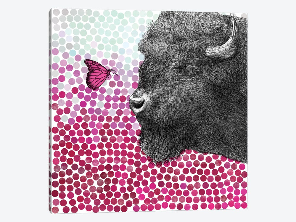 Bison and Butterfly I by Eric Fan 1-piece Canvas Art Print