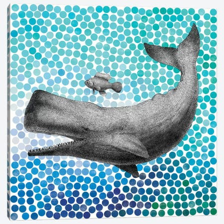 New Friends Series: Whale and Fish I Canvas Print #EFN46} by Eric Fan Canvas Art
