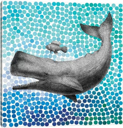 New Friends Series: Whale and Fish I Canvas Art Print
