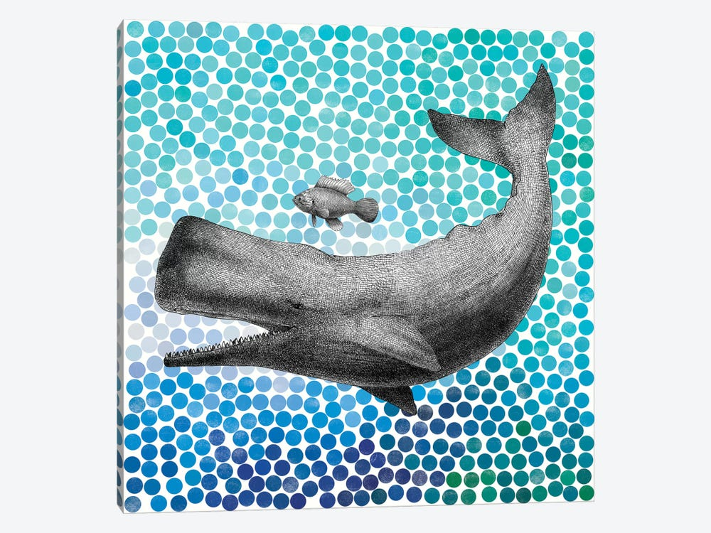 New Friends Series: Whale and Fish I 1-piece Art Print