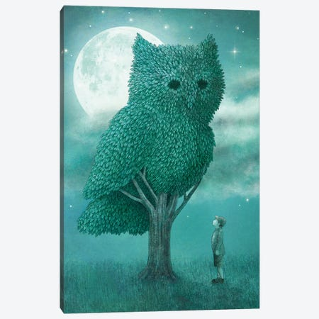 Illustrations From The Night Gardner: Cover Art Canvas Print #EFN52} by Eric Fan Canvas Art