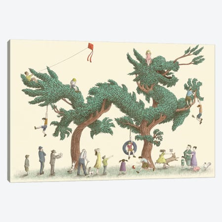 Dragon Tree Canvas Print #EFN53} by Eric Fan Canvas Wall Art
