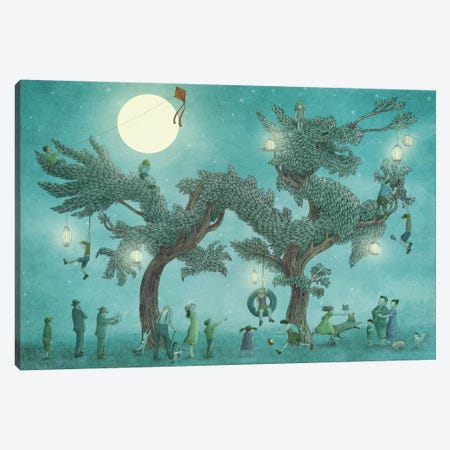Dragon Tree At Night Canvas Print #EFN54} by Eric Fan Canvas Art Print