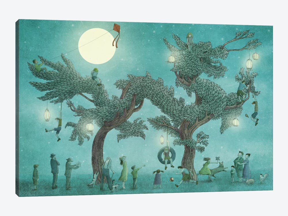 Dragon Tree At Night by Eric Fan 1-piece Canvas Wall Art