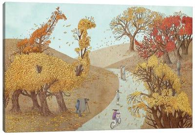 Fall Park Canvas Art Print