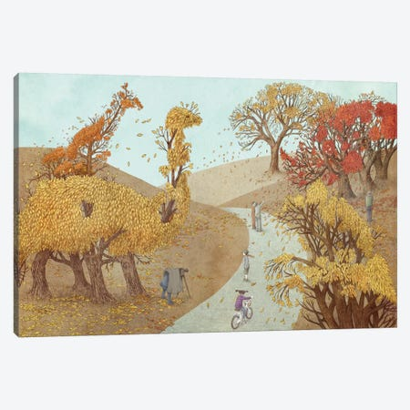 Fall Park Canvas Print #EFN56} by Eric Fan Art Print