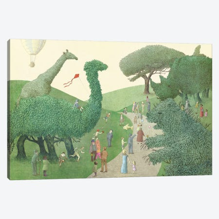 Summer Park Canvas Print #EFN57} by Eric Fan Canvas Art Print