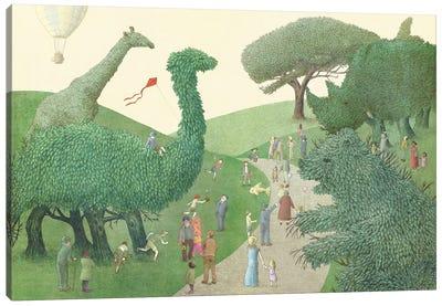 Illustrations From The Night Gardner: Summer Park Canvas Print #EFN57