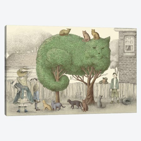 The Cat Tree Canvas Print #EFN59} by Eric Fan Canvas Artwork