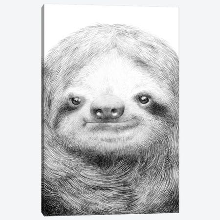 Sloth Canvas Print #EFN62} by Eric Fan Art Print