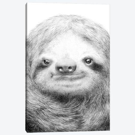 Sloth Canvas Print #EFN62} by Eric Fan Art Print