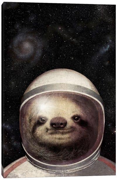 Space Sloth Canvas Art Print