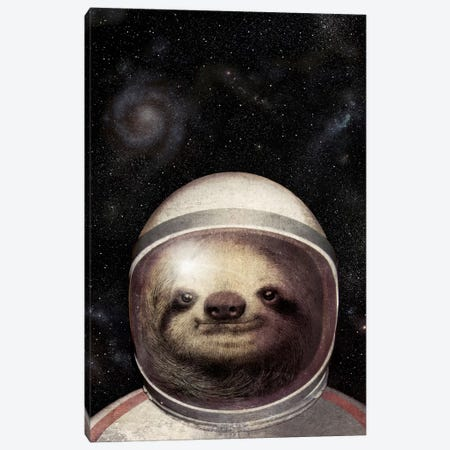 Space Sloth Canvas Print #EFN63} by Eric Fan Canvas Print