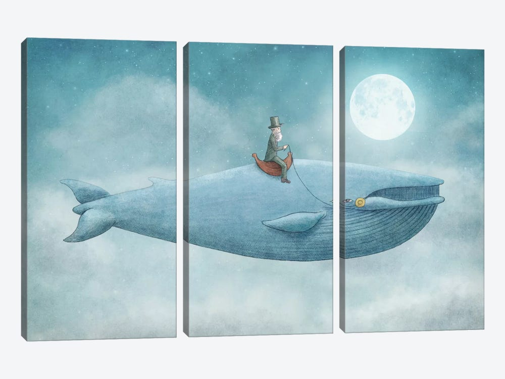 Whale Rider by Eric Fan 3-piece Canvas Wall Art
