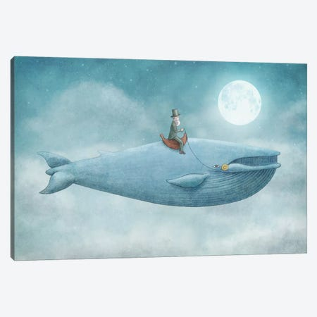 Whale Rider Canvas Print #EFN67} by Eric Fan Canvas Artwork