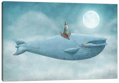 Whale Rider Canvas Art Print