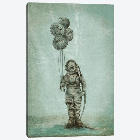 Balloon Fish Canvas Print #EFN69} by Eric Fan Canvas Print