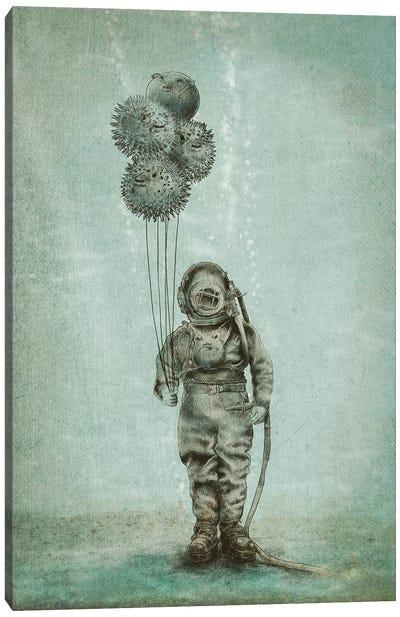 Balloon Fish Canvas Print #EFN69