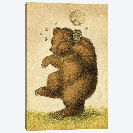 Honey Bear Canvas Print #EFN74} by Eric Fan Art Print