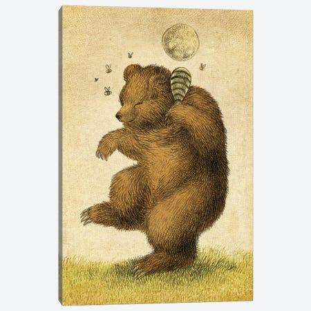 Honey Bear Canvas Print #EFN74} by Eric Fan Art Print