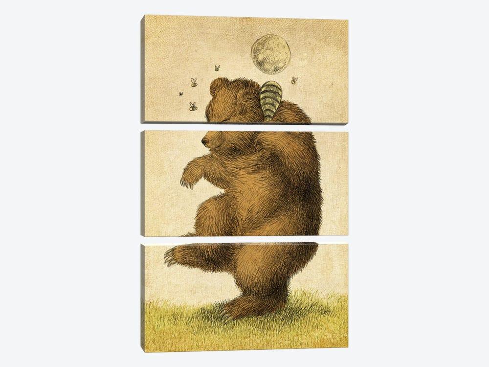 Honey Bear by Eric Fan 3-piece Canvas Wall Art